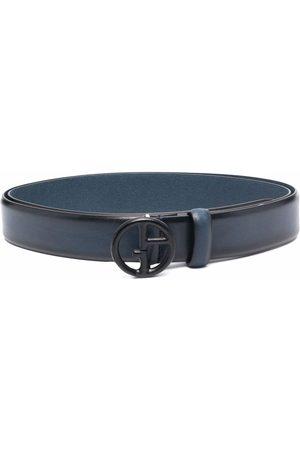 Armani Herre Belter - Logo-plaque leather belt