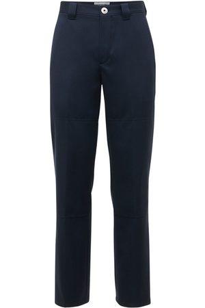 Lanvin Wide Leg Double Wool Pants