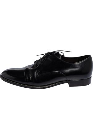 Dior Pre-owned Patent Leather Lace Derby Shoes
