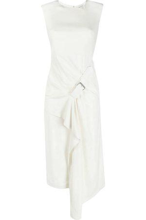 Alexander McQueen Buckle-detail drape-front dress