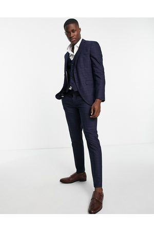 SELECTED Suit trousers in slim fit blue check