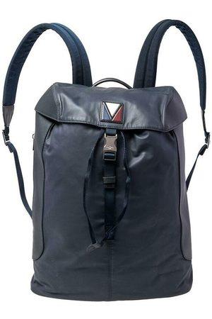 LOUIS VUITTON Brukte Leather and Nylon V Line Pulse Ryggsekk