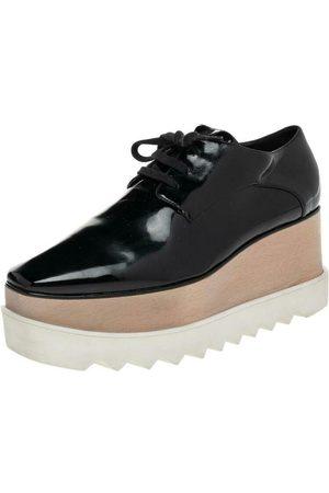 Stella McCartney Dame Pensko - Faux Patent Leather Elyse Platform Derby