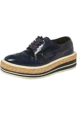 Prada Pre-owned Derby Lace Up Espadrille Sneakers