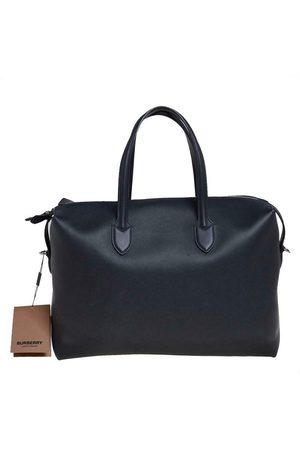 Burberry Pre-owned Leather Lawrence Holdall Weekend Bag