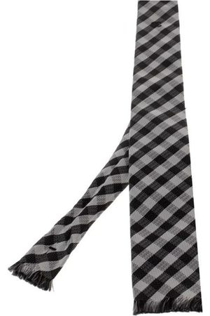 CHANEL Pre-owned Checked Fringed Flat Tip Silk Tie