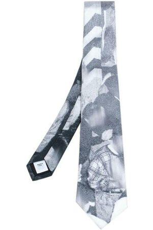 Burberry Pre-owned Monochrome Rave Print Silk Tie