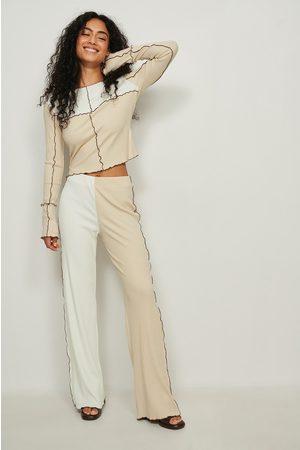 NA-KD Trend Dame Bukser - Tights med kontraststring