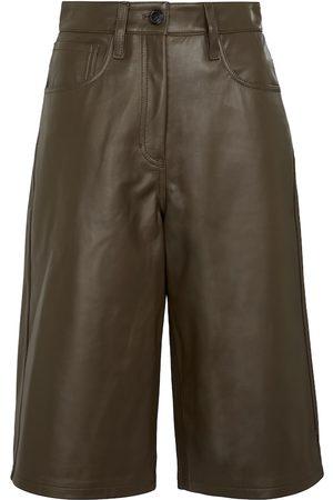 DRIES VAN NOTEN Leather Bermuda shorts