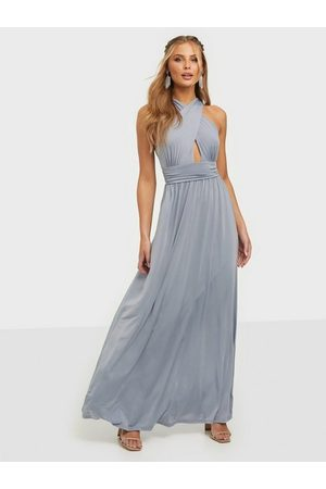 NLY Eve Halterneck Wrap Gown Dusty Blue