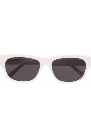 Balenciaga Rectangle-framed logo sunglasses