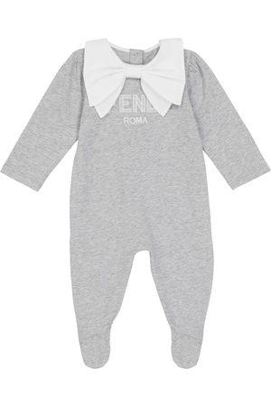 Fendi Baby Sparkebukser - Cotton logo onesie