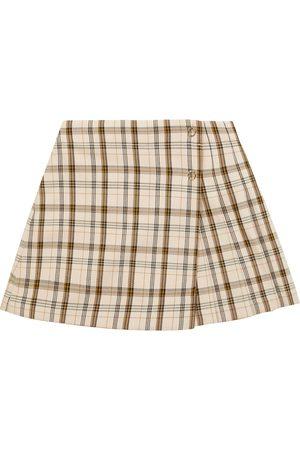 Burberry Checked wool miniskirt