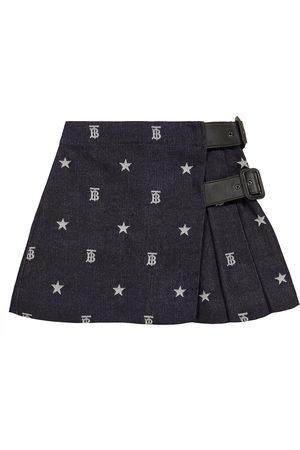 Burberry Monogrammed Japanese denim skirt