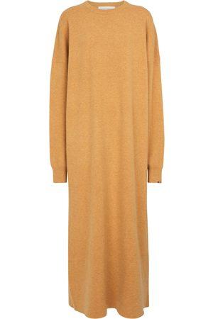 EXTREME CASHMERE N° 106 Weird cashmere-blend midi dress