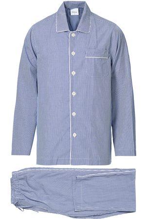 Nufferton Herre Pyjamaser - Alf Checked Pyjama Set Blue/White