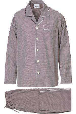 Nufferton Alf Checked Pyjama Set Brown/White
