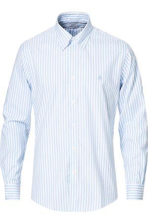 Brooks Brothers Regent Fit Oxford Pinpoint Shirt Light Blue Stripe