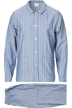 Nufferton Herre Pyjamaser - Uno Mini Stripe Pyjama Set Navy/White