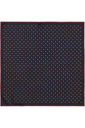 Gucci Double G and stars silk pocket square