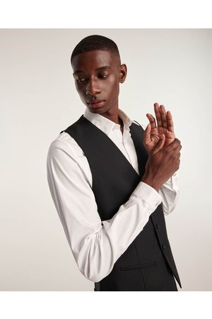 The Kooples Black waistcoat in wool with buttons