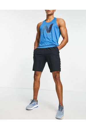 New Balance Fast Flight vest with chest print in blue
