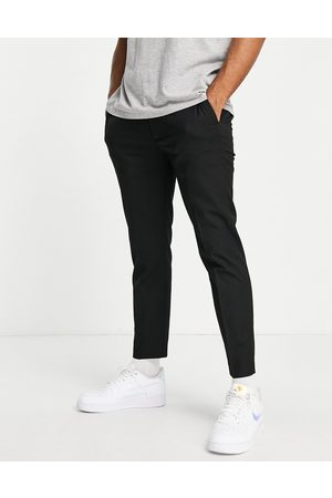 Topman Smart skinny jogger trousers in black