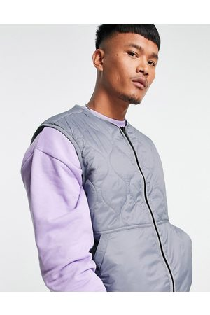 ASOS Quilted gilet in grey