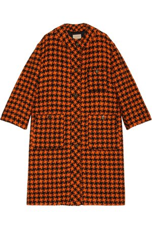 Gucci Houndstooth wool coat