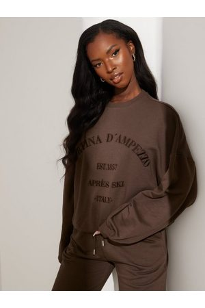 NLY Dame Gensere - Oversize Embroidered Sweat