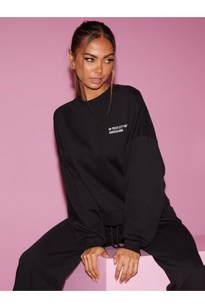NLY Dame Sweatshirts - Oversize Embroidered Sweat