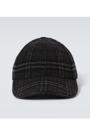 Burberry Checked wool and cashmere baseball cap