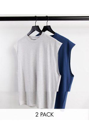 ASOS 2 pack oversized vest-Multi