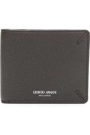 Armani Herre Lommebøker - Bi-fold leather wallet