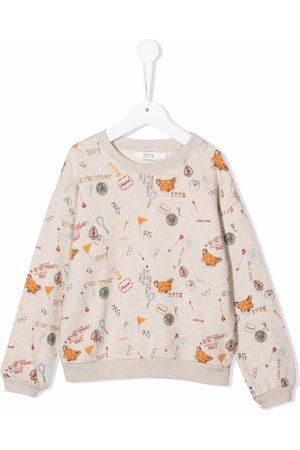 BONPOINT Graphic-print long-sleeve cotton sweatshirt