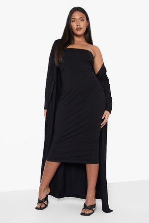 Boohoo Dame Stroppeløse kjoler - Plus Recycled Bandeau Dress And Duster