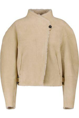 Isabel Marant Acacina suede and shearling jacket