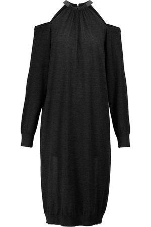 Brunello Cucinelli Off-shoulder cashmere-blend sweater dress