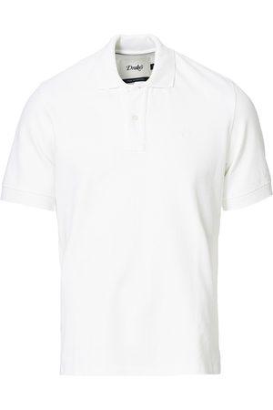 Drake's Herre Pique - Short Sleeve Pique Polo White