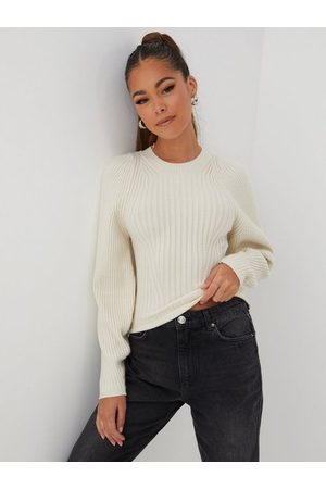 Gina Tricot Dame Strikkegensere - Camille knitted sweater White