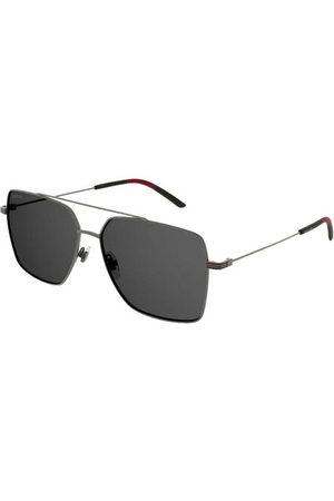 Gucci Ruthenium and enamel square sunglasses