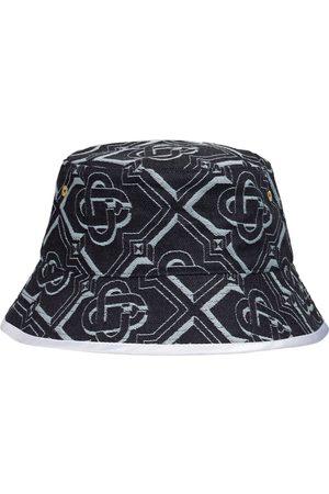 CASABLANCA Monogram Cotton Denim Bucket Hat