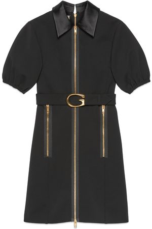 Gucci Jersey dress with G buckle belt