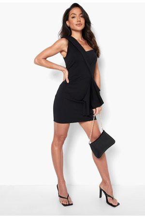 Boohoo Dame Bodycon kjoler - One Shoulder Ruffle Mini Dress