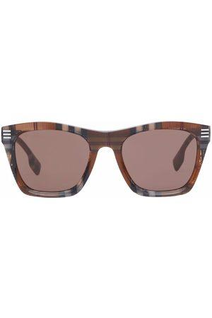 Burberry Check-print frame sunglasses