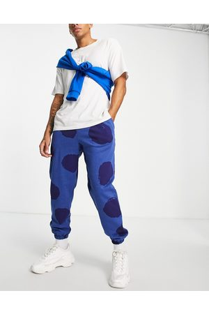 Another Reason Splat joggers in blue