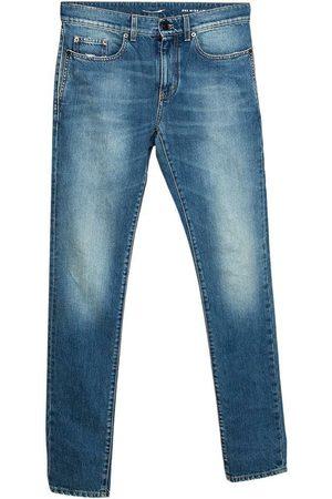 Saint Laurent Herre Skinny - Pre-owned Faded Effect Denim Skinny Jeans
