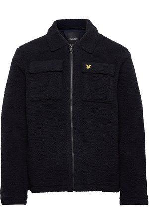 Lyle & Scott Collared Pile Jacket Sweat-shirts & Hoodies Fleeces & Midlayers Svart