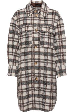 Soaked in Luxury Dame Kåper - Slcookie Coat Outerwear Coats Winter Coats Brun