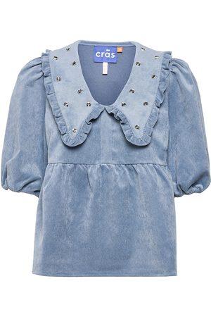Crās Annie Blouse Blouses Short-sleeved Blå